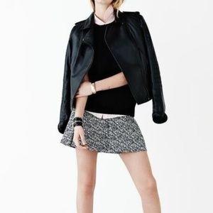 Banana Republic Black and White Marled Skirt